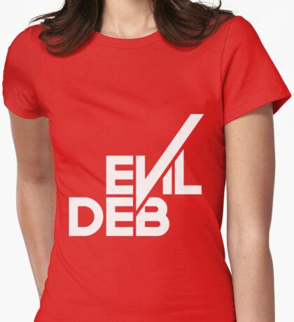 Evil Deb Womens Fitted T-Shirt