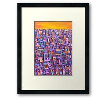 Sunset Metro Framed Print