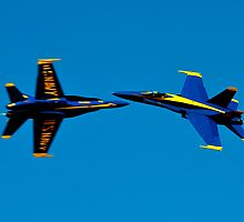 Blue Angels cross over by Mike O'Brien