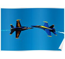 Blue Angels cross over Poster