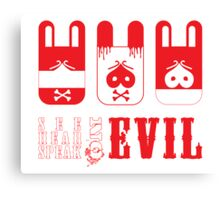 See, hear, speak Evil Canvas Print