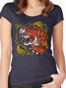 TIGER BEE ATTACK Women's Fitted Scoop T-Shirt