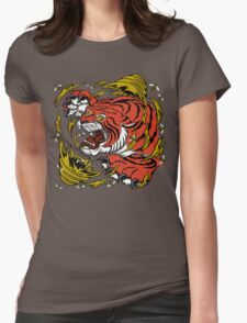 TIGER BEE ATTACK Womens Fitted T-Shirt