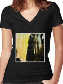 City-Scape Escape Women's Fitted V-Neck T-Shirt