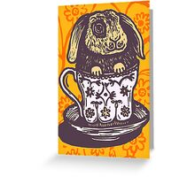 Bunny Teacup Greeting Card