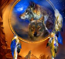 Dream Catcher - Wolf Dreams by Carol  Cavalaris