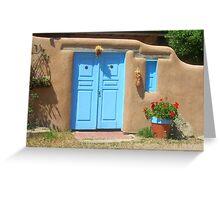 Taos Door Greeting Card