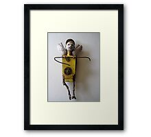 Sun Angel - assemblage altered art doll Framed Print