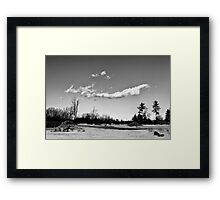 Clouds Ove a Cement Mixer Framed Print