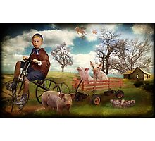 Bringing Home The Bacon Photographic Print