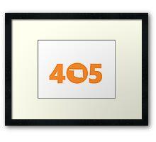 405 Oklahoma Proud Orange Framed Print
