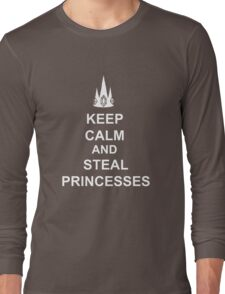 Keep Calm And Steal Princesses White Crown Long Sleeve T-Shirt