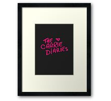 the carrie diaries. Framed Print
