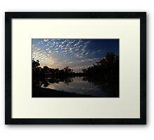Billabong Sunset Framed Print