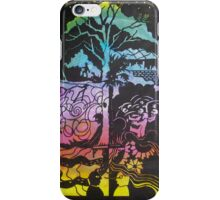 A Tale of the Ragged Mountains in Black iPhone Case/Skin