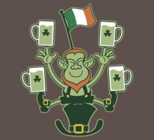 Leprechaun Juggling Beers and Irish Flag Kids Clothes