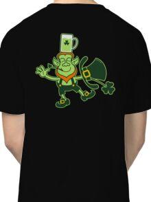 Leprechaun Balancing a Glass of Beer on his Head Classic T-Shirt