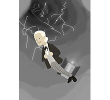 1st Doctor in the Time Vortex Photographic Print