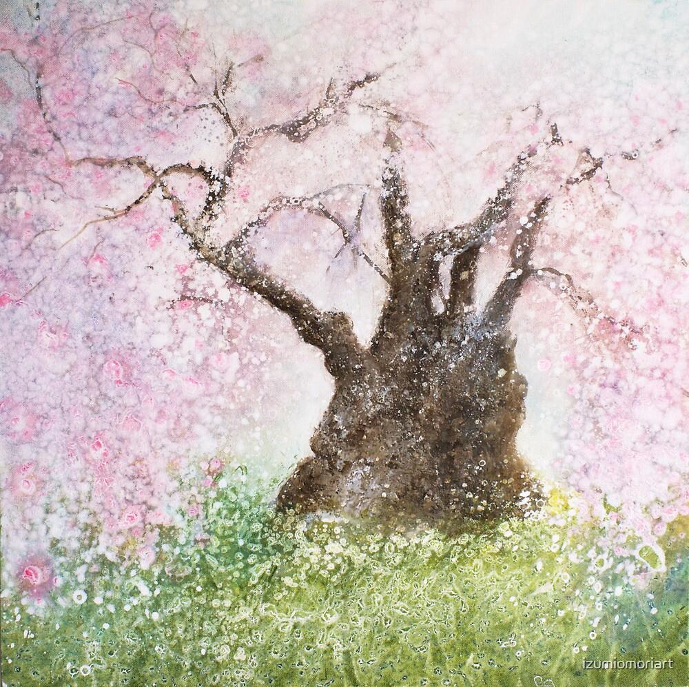 Jindai Zakura (2000 year-old cherry tree) by izumiomoriart