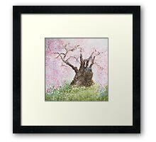 Jindai Zakura (2000 year-old cherry tree) Framed Print