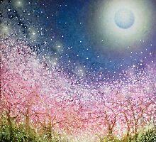 Sakura Night by izumiomoriart
