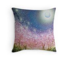 Sakura Night Throw Pillow