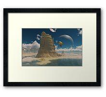 Balloon Ride Over Planet Castelorizona Framed Print