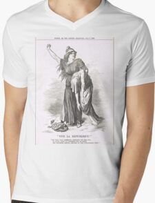 Vive La Republique Punch cartoon 1894 Mens V-Neck T-Shirt