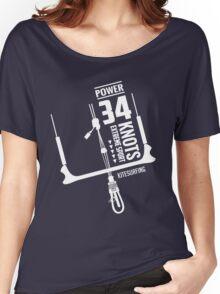 Power 34 Knots Kitesurfing Women's Relaxed Fit T-Shirt