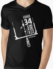 Power 34 Knots Kitesurfing Mens V-Neck T-Shirt