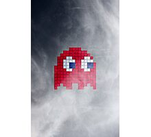 Pac-Man Red Ghost Photographic Print