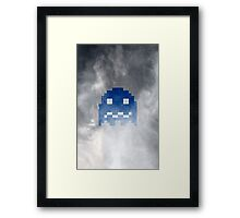 Pac-Man Blue Ghost Framed Print