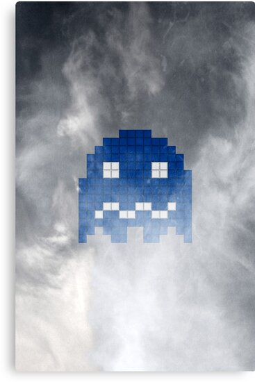 Pac-Man Blue Ghost by Psocy