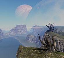 Dark Young of Shub-Niggurath (in space) by tikirussy