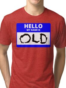 ZOOLANDER 2 HELLO MY NAME IS OLD DEREK HALLOWEEN Tri-blend T-Shirt