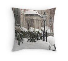 Snow On R Street Throw Pillow