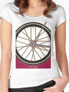 Single Speed Bicycle Women's Fitted Scoop T-Shirt
