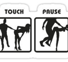 RUGBY SCRUM - STOP TOUCH PAUSE ENGAGE  Sticker