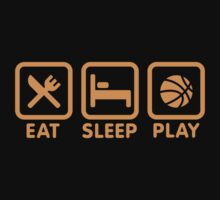 Eat Sleep Play Basketball Baby Tee