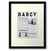 Pride & Prejudice Darcy Announcement Framed Print
