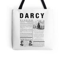Pride & Prejudice Darcy Announcement Tote Bag