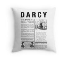Pride & Prejudice Darcy Announcement Throw Pillow