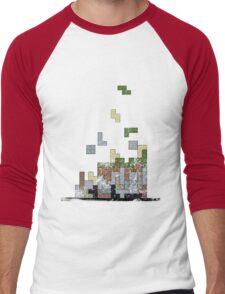 MineTetris Men's Baseball ¾ T-Shirt