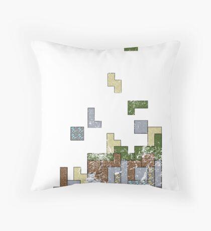 MineTetris Throw Pillow