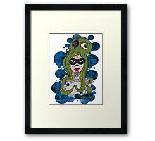 Octo Skull Girl Framed Print
