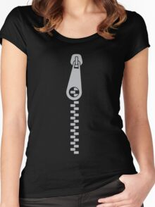 Zipper Women's Fitted Scoop T-Shirt