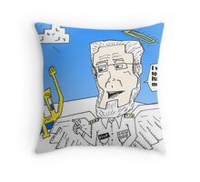 Euroman and Dr. Koop caricature binary options news Throw Pillow