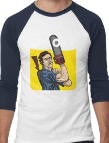 Evil Dead - We Can Do It parody Men's Baseball ¾ T-Shirt