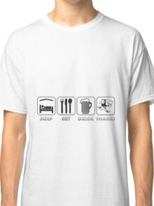 EAT SLEEP SHARKS NATAL SOUTH AFRICA RUGBY SUPER RUGBY Classic T-Shirt