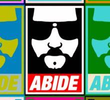 Abide - Pop Art Sticker